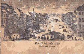 La place Venceslas en 1720