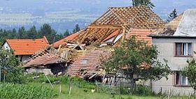 Gewitterschaden (Foto: ČTK)