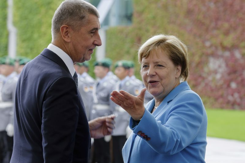 Andrej Babiš y Angela Merkel, foto:   ČTK/AP/Markus Schreiber