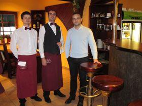 Petr Müller (vpravo), restaurace Šupinka, foto: Ivana Vonderková