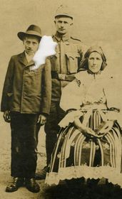 Josef Jakubíček with his mother and younger brother, photo: archive of Josef Jakubíček