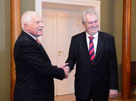 Václav Klaus y Miloš Zeman, foto: ČTK