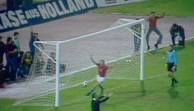 Antonín Panenka's famous penalty at Euro 1976, photo: Czech Television