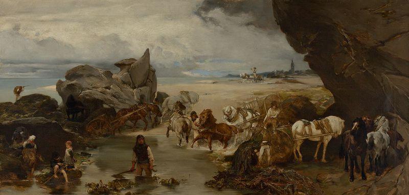 Jaroslav Čermák, 'La vie sur la côte près de Roscoff', photo: Galerie nationale de Prague