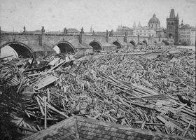Hochwasser in Prag 1872 (Foto: František Fridrich, Public Domain)