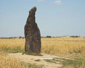 Menhir el Pastor Petrificado de Klobuky, foto: www.slany.net