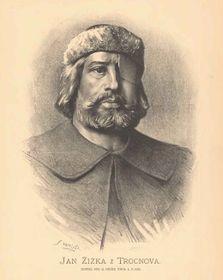 Jan Žižka na portrétu od Jana Vilímka, zdroj: Wikimedia Commons, Public Domain
