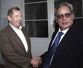 Václav Havel y Raúl Rivero  (Foto: CTK)