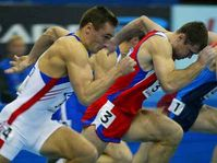 Roman Šebrle, běh na 60 metrů, čas 7,07 sekundy, foto: ČTK