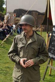 Даниэл Малый из Клуба военной истории Tommy & Yankee (Фото: Милош Турек, Чешское радио - Радио Прага)