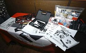 Police presented a number of neo-Nazi materials found at their homes, photo: CTK