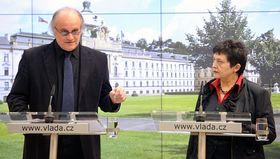 Michael Kocáb y Džamila Stehlíková, foto: ČTK