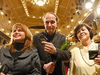Daniela Šálková (vlevo), Jan Vondráček a Jaroslava Pokorná, foto: ČTK