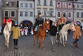 La procesión de los Reyes Magos en la ciudad de České Budějovice, foto: Jiří Čondl, ČRo