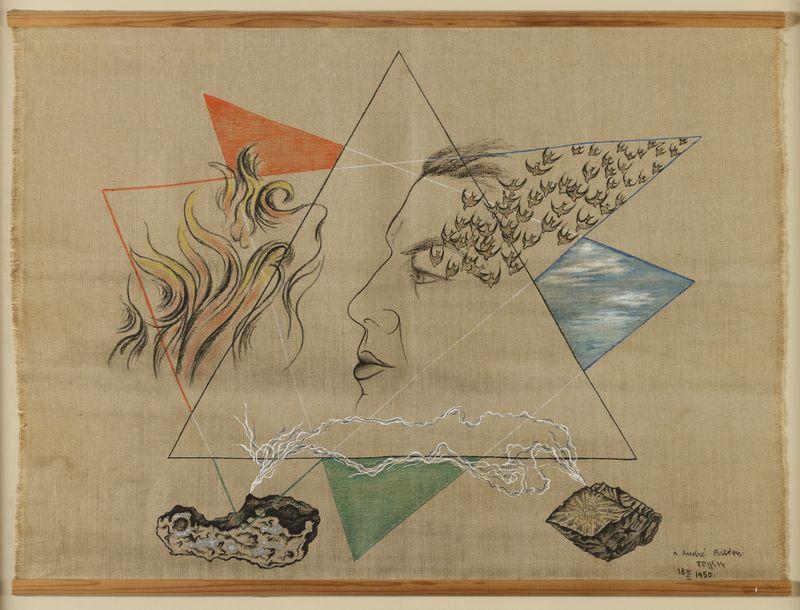 Toyen, 'Portrait d'André Breton', 1950, photo: Centre tchèque de Paris