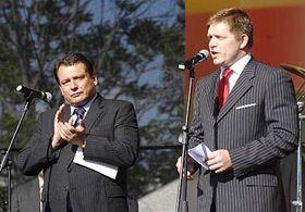 Jiri Paroubek and Robert Fico, photo: CTK