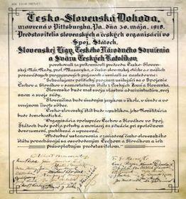 Чешско-словацкое соглашение, подписанное в Питтсбурге, Фото: архив Татьяны Ивановой-Шелингер