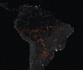 Los incendios forestales en Amazonía, foto: Joshua Stevens / NASA