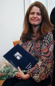 Lucie Slavíková-Boucher avec le prix Gratias Agit
