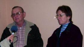 Juan Cerny con su esposa