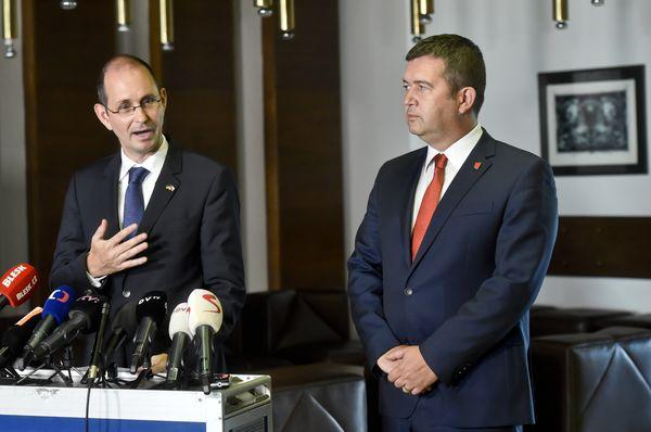 Christoph Israng und Jan Hamáček (Foto: ČTK/Vít Šimánek)