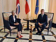 Theresa May und Andrej Babiš (Foto: ČTK / Jakub Střihavka)