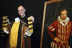 Actor Miroslav Táborský with one of the costumes, photo: CTK