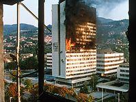 Sarajevo in 1992, photo: Mikhail Evstafiev, CC 3.0 license