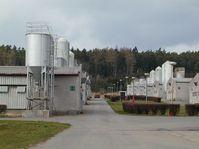 Le centre d'élevage de porcs à Lety