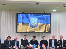 Министры иностранных дел Чехии, Украины и Дании в здании администрации порта, Фото: Катерина Айзпурвит