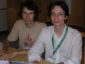 Marek Blahuš (links) und Gregor Hinker