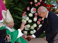 Pope John Paul II with Otto of the Habsburg dynasty, photo: CTK