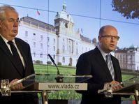 Президент Милош Земан и премьер-министр Богуслав Соботка, Фото: ЧТК