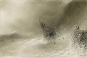 Vichřice vprůběhu krymské války potopila mnoho lodí, foto: Wikimedia Commons, Public Domain
