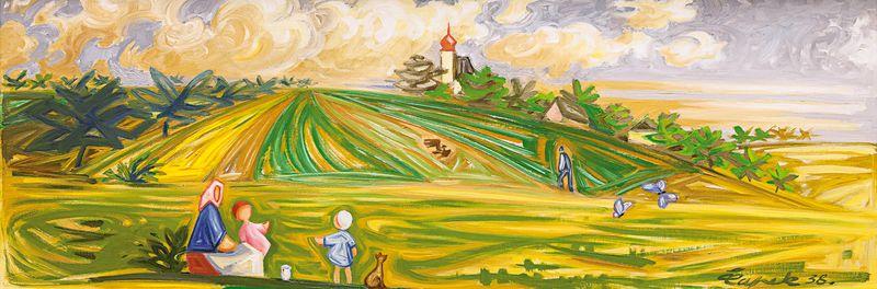 Josef Čapek, 'En juin', 1938, source: public domain
