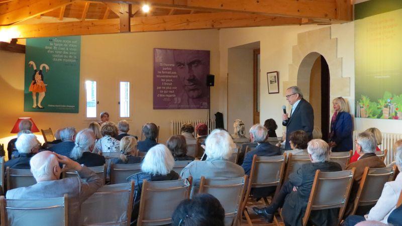 Conférence à Saint-Emilion, photo: Magdalena Hrozínková