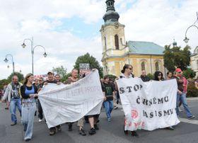 Demonstration gegen Roma (Foto: Filip Jandourek, Archiv des Tschechischen Rundfunks)