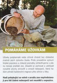 Snímek brožurky upozorňující na volný pohyb užovek vareálu zahrady, Foto: Rádio Praha
