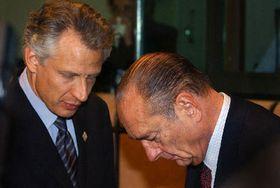Dominique de Villepin y Jacques Chirac (de la izquierda), foto: CTK