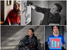 Čtyři umělci, se kterými natáčel rozhovor Marek Milde, foto: archiv Českého centra New York