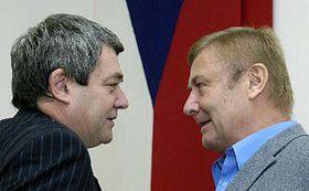 Miroslav Grebenícek (a la derecha) y Vojtech Filip (Foto: CTK)