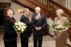 President Vaclav Klaus' visit to Moscow, photo: CTK