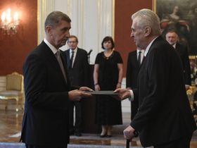 Andrej Babiš y Miloš Zeman, foto: ČTK