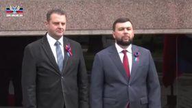 Зденек Ондрачек и Денис Пушилин, фото: ЧT24, Twitter