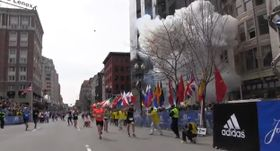 Explosion during the Boston Marathon, April 15, 2013, photo: YouTube