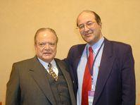 Luis Alberto Monge y Freddy Valverde en la cumbre del Comité Internacional para la Democracia en Cuba