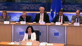 Věra Jourová en la pasada Comisión Europea, foto: ČT24