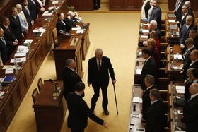 Милош Земан в Палате депутатов, фото: ЧТК