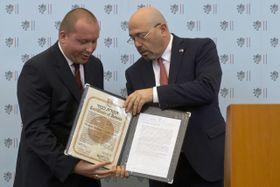 David Vochoč et l'ambassadeur israélien, Gary Koren, photo: ČTK