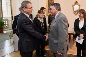 Edgardo Riveros y Lubomír Zaorálek, foto: archivo del Ministerio de RR.EE. checo